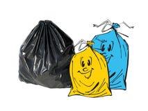 Ökologieserie - Abfall Stockbild