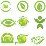 Ökologiesymbole und -logo Lizenzfreies Stockfoto