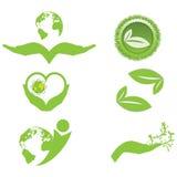 Ökologiesymbole und -logo Lizenzfreies Stockbild
