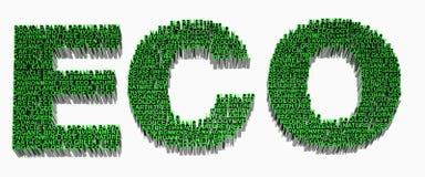 Ökologiewörter in Verbindung gestanden Lizenzfreie Stockfotografie