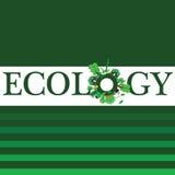 Ökologiewort für Hintergrundillustration Stockfoto