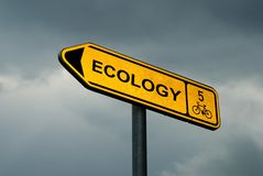 Ökologiezeichen Stockbild