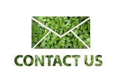 Ökologisch bringen Sie uns Symbol in Kontakt Stockfotografie