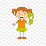 Ökologisch Kinderdesign lizenzfreie abbildung