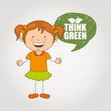 Ökologisch Kinderdesign vektor abbildung