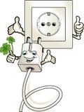 Ökologisch lohnender elektrischer Strom stock abbildung