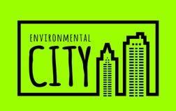 Ökologisch saubere grüne Stadt stock abbildung