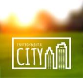 Ökologisch saubere grüne Stadt vektor abbildung