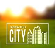 Ökologisch saubere grüne Stadt lizenzfreie abbildung