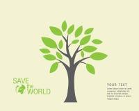 Ökologisch und sparen Sie das Weltgrün Lizenzfreie Stockfotografie