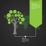 Ökologisch und sparen Sie das Weltgrün lizenzfreie abbildung