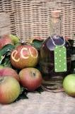 Ökologische Äpfel Stockbild