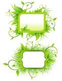 Ökologische Fahnen Stockbild