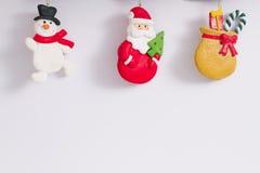Ökologische, hölzerne Weihnachtsdekorationen stock abbildung