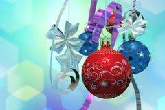 Ökologische, hölzerne Weihnachtsdekorationen lizenzfreie abbildung