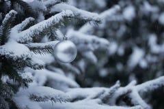 Ökologische, hölzerne Weihnachtsdekorationen Stockfoto