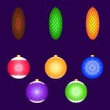 Ökologische, hölzerne Weihnachtsdekorationen Elemente für Design Weihnachtskarten Lizenzfreies Stockfoto