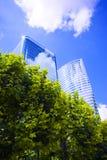 Ökologische Stadt Stockfoto