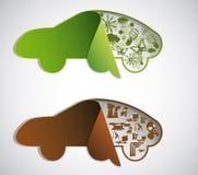 Ökologische Symbole. Lizenzfreie Stockbilder
