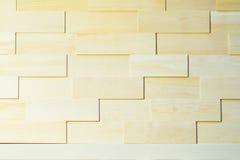 Ökologischer Hintergrund der hölzernen Plankenwand für Design und Dekoration, helle natutal Farbe Dekoratives geomethrical Lizenzfreie Stockfotos