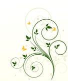 Ökologischer Hintergrundmit blumenvektor Lizenzfreie Stockbilder