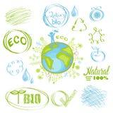Ökologischer Satz Lizenzfreies Stockfoto