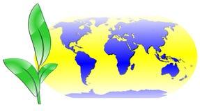 Ökologischer Weltkartenvektor Lizenzfreie Stockfotos