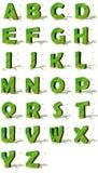 Ökologisches Alphabet Stockfotos