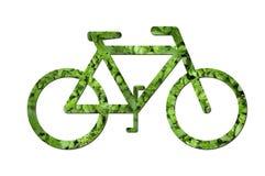Ökologisches Fahrrad Stockbild
