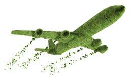 Ökologisches Flugzeugverkehrkonzept Stockfotos