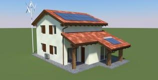 Ökologisches Haus vektor abbildung