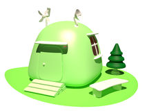 Ökologisches Haus, 3D Stockfotografie