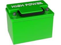 Ökologisches Konzept der Batterie Stockbild