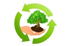 Ökologisches Konzeptsymbol Lizenzfreies Stockfoto