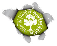 Ökologisches, organisches Feld Lizenzfreie Stockbilder