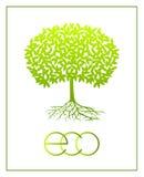 Ökologisches Symbol des Vektors Lizenzfreie Stockfotografie