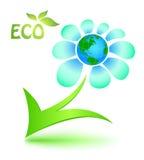 Ökologisches Symbol mit Muttererde Lizenzfreie Stockfotos