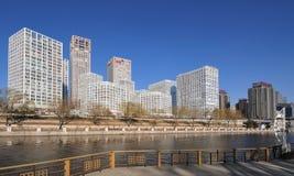 Ökonomische Mitten der CBD-Peking Stadt Lizenzfreies Stockfoto