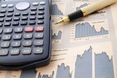 Ökonomische Presse Stockfoto