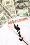 Ökonomische Rezession Lizenzfreies Stockfoto