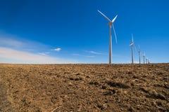 Ökostrom-Energie - die Energie des Winds Stockbild