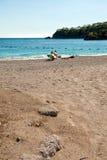 Ölüdeniz strand - blå lagun Turkiet Royaltyfria Bilder