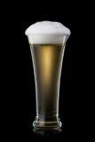Öl Öl in i exponeringsglas på svart bakgrund Royaltyfri Fotografi
