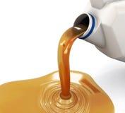 Öl, das aus dem Kanister ausläuft lizenzfreie abbildung