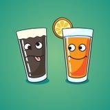 Öl eller fruktsaft Royaltyfri Bild