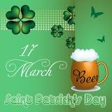 Öl för dagen för St Patrick ` s rånar Fotografering för Bildbyråer