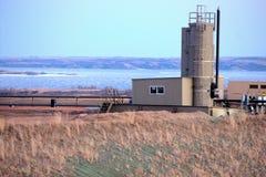 Öl-Gas-Wasserabscheider Stockfotos