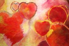 Öl gemalter Herzhintergrund vektor abbildung