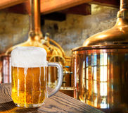 Öl i bryggeriet Royaltyfri Bild
