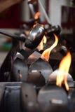 Öl-Lampen-Verdienst, erleuchten Ihre Klugheit Stockbilder